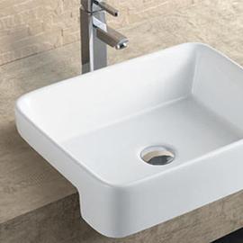 Semi Recessed basin