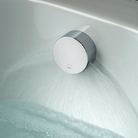 Overflow bath filler tap