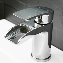 Water fall basin mixer
